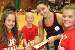 Captain Suzy Drane meets some fans! (C) Ian Lovell