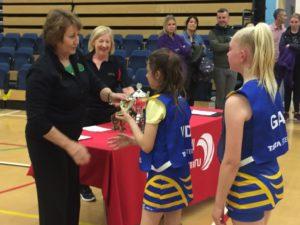Julie Hoornweg Presents Tywyn with their Trophies