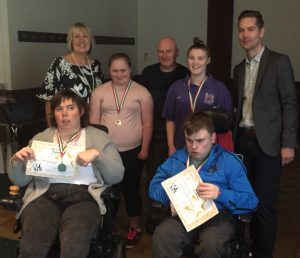 Ben Williams (pictured right) with some of the award winners from Ser y Byd.
